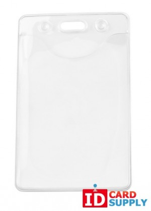Clear Environmentally Friendly Vertical Badge Holder (QTY:100)