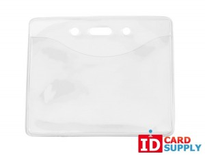 (Pack of 100) Clear Vinyl Eco Friendly Horizontal Badge Holder
