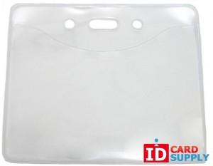 QTY: 100 | Pure Clear™ Horizontal ID Badge Holders