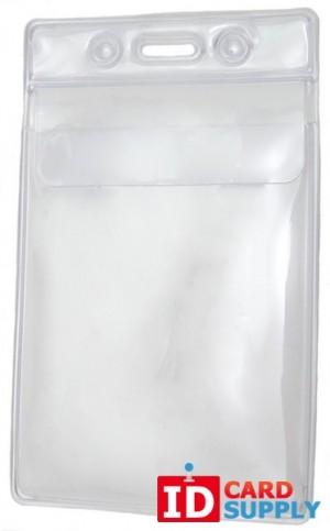 Vertical Badge Holder w/Fold Over Flap [Qty:100]