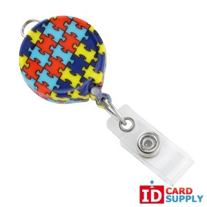 Autism Awareness Badge Reel