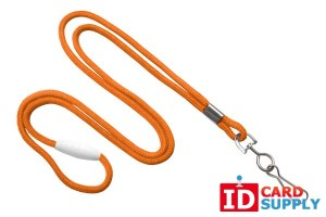 "Orange Breakaway 1/8"" Lanyard w/ Swivel Hook 