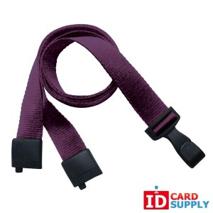 "5/8'' (16mm) Purple Lanyard w/Recycled PET Breakaway Strap, ""No-Twist"" Hook 