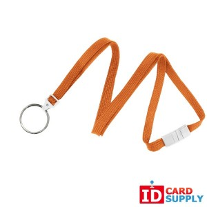 "WTY: 100 | Orange 3/8"" Breakaway Lanyard with Split Ring"