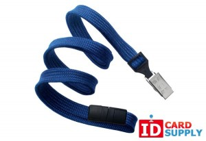 "Royal Blue 3/8"" Lanyard w/ Bulldog Clip (100) | 2137-6002"