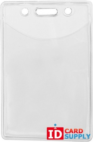 Vertical Badge Holder Clear Vinyl w/slot and chain holes (pack of 100)