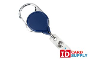 Royal Blue Carabiner Badge Reel w Vinyl Strap | Pack of 25