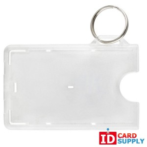 Frosted 1-Card Horizontal Card Holder w/ Slot And NPS Key Ring | QTY: 50