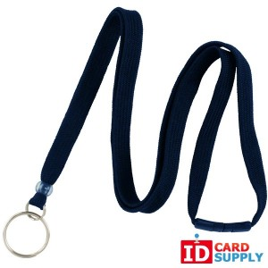 3/8'' Navy Blue Breakaway Lanyard with Key Ring (Bundle of 100)