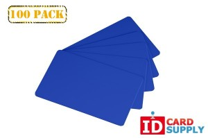 Hospital Blue 30 Mil PVC Cards | QTY: 100