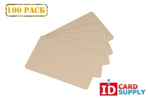 Tan Standard Size Graphics Quality PVC Cards (Standard Credit Card Size) - 100 Pack