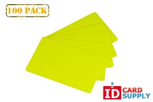 Yellow Graphics Quality PVC Cards (100 Pack) Standard Credit Size