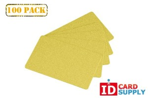 Premium Yellow Gold PVC ID Cards - Standard CR80 Size | 100 Cards