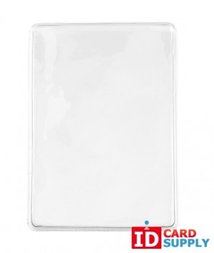 Pack of 100 Clear Vinyl Business Card Holders