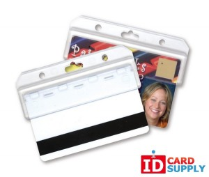 QTY: 50 | Frosted Horizontal Half Card Holder