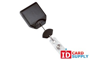 Black No Twist Badge Reel With Swivel Belt Clip