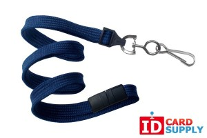 "Navy Blue 3/8"" Lanyard"