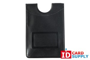 QTY: 50 | Single Pocket Vertical Holder With Thumb Notch | Credit Card Size