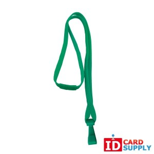 Green 10mm Breakaway Lanyard w/ Plastic Hook (Pack of 100)
