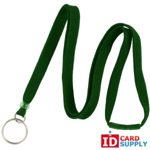 3/8'' (10mm) Green Breakaway Lanyard w/Split Ring. Bundle of 100.