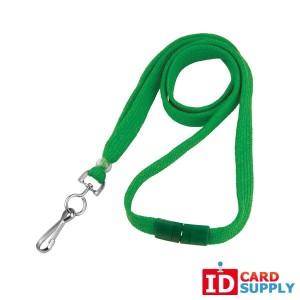 100 Green 3/8'' Breakaway Lanyards w/ Swivel Hook End Attachment