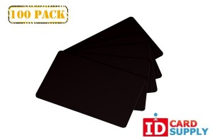100 Black PVC ID Cards Standard Size and Thickness