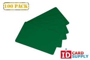Green Standard Size PVC Cards (CR80) by easyIDea