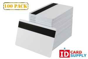 White Standard Size PVC Card with HiCo Mag Stripe [QTY: 100]