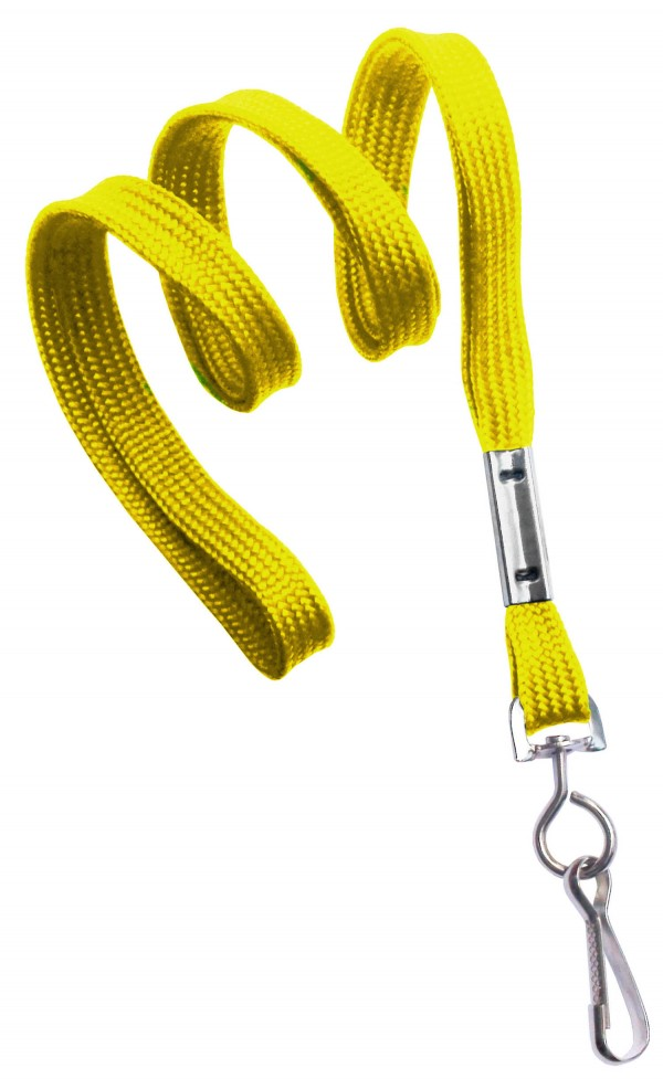 2135-3509 - Yellow Flat Woven Standard Lanyard w/ Swivel Hook