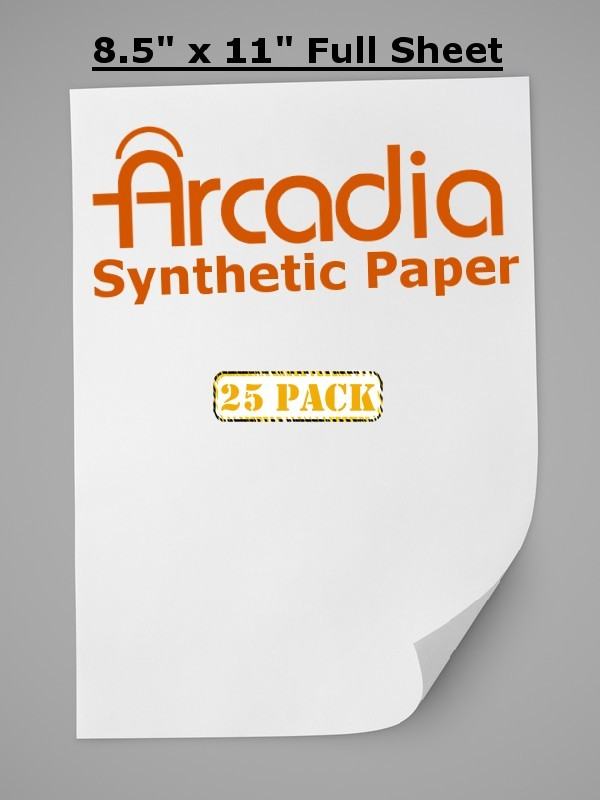 Arcadia Synthetic Paper - 25 Pack