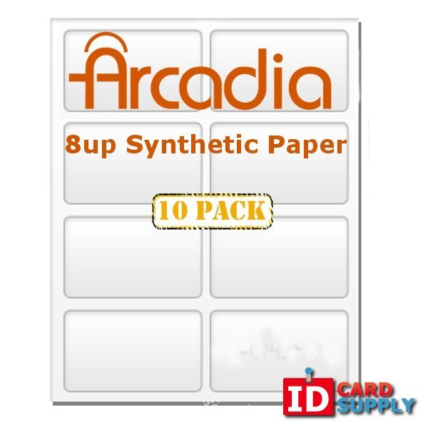 10 Pack Arcadia 8-Up Paper
